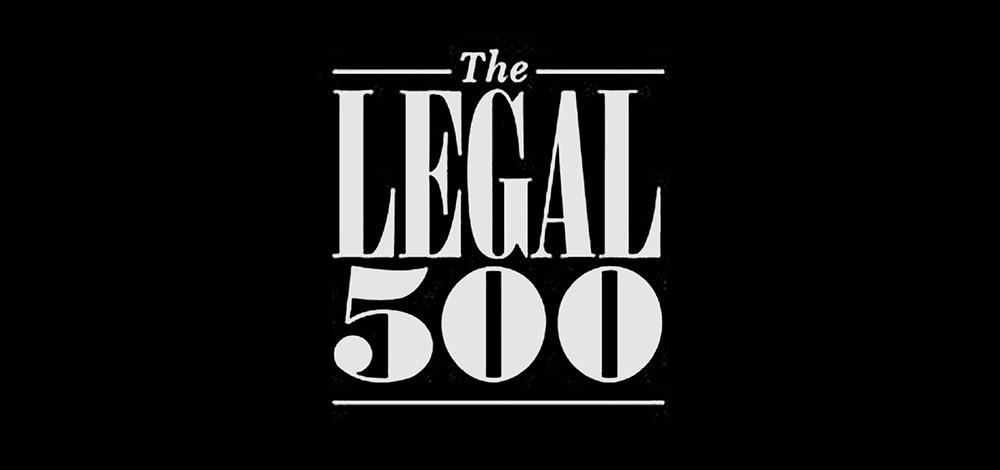 The LEGAL 500 distingue a CENTRAL LAW y equipo de abogados