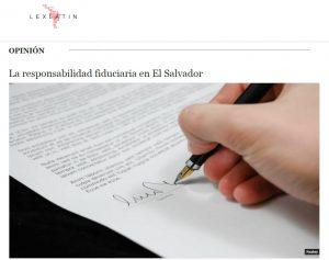 Artículo en Lexlatin de nuestro Socio Manuel Alfaro sobre responsabilidad fiduciaria