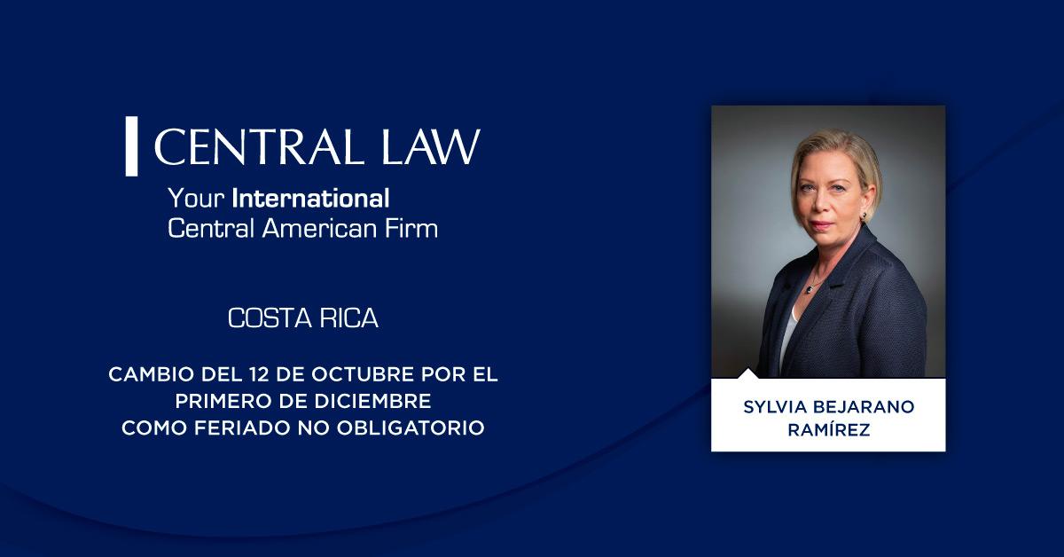 Costa Rica: Cambio del 12 de octubre por el primero de diciembre como feriado no obligatorio